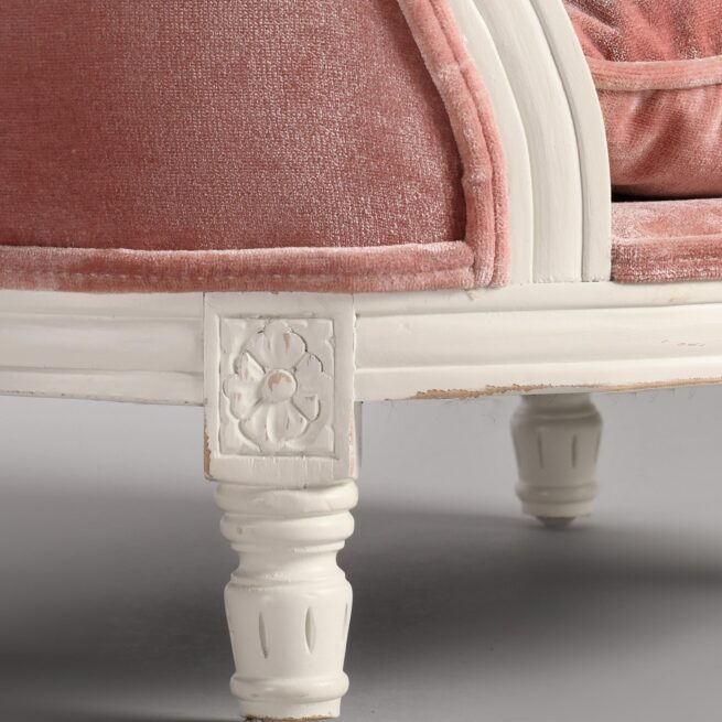 Hondenmand Lord Lou George Pink Velvet Small