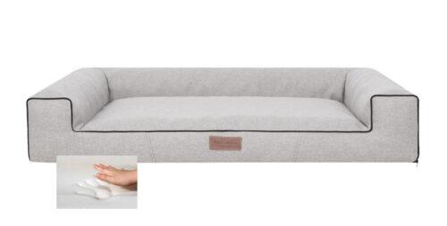 Orthopedische hondenmand Lounge Bed lux grijs