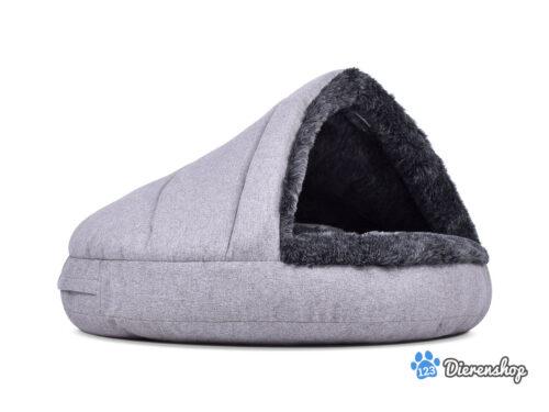 Hondenmand Snuggle Cave Comfort Zilver-Antraciet