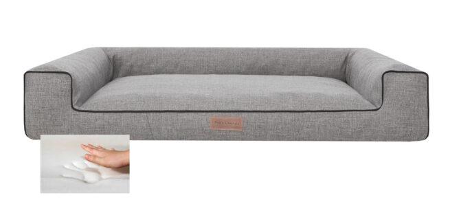 Dog's Lifestyle Orthopedische hondenmand Lounge Bed Inari grijs 80cm