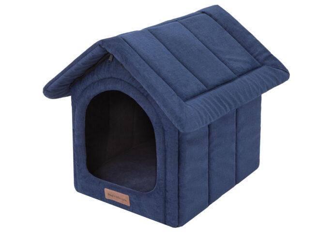 Dog's Lifestyle Dog's Lifestyle hondenhuisje Velvet Royal blauw