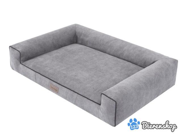 Hondenmand Lounge Bed Indira Cordu grijs ( meubelstof )