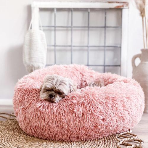 Geen categorie Hondenmand Donut Fuzz Oudroze