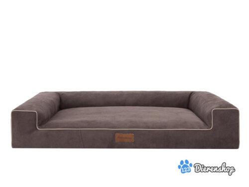 Hondenmand Lounge Bed Indira Cordu Bruin ( meubelstof )