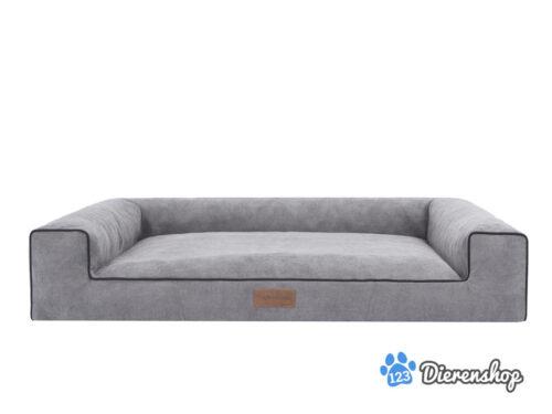 Dog's Lifestyle Hondenmand Lounge Bed Indira Cordu grijs ( meubelstof )