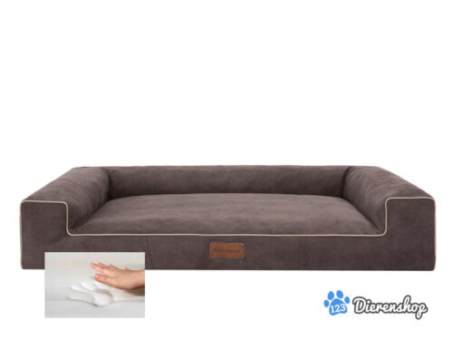 Orthopedische hondenmand Lounge Bed Cordu Bruin 100cm