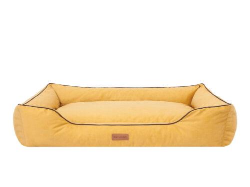 Middelgrote hondenmand Hondenmand Dog's Lifestyle Velvet Okergeel 90cm