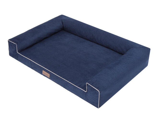 Dog's Lifestyle Hondenmand Lounge Bed Velvet Blauw
