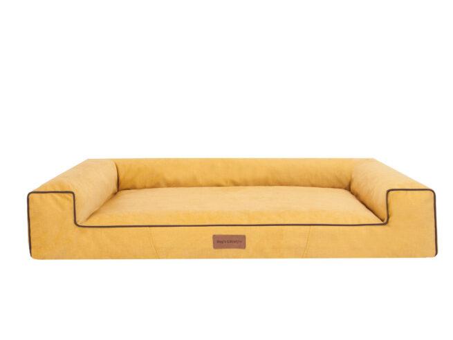 Hondenmand Lounge Web Velvet Okergeel 100cm