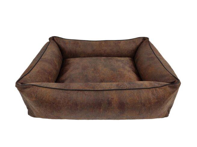 Dog's Lifestyle Dog's Lifestyle hondenmand Vintage Lederlook Bruin 85cm
