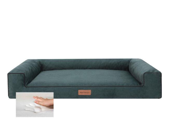 Orthopedische hondenmand Lounge Bed Velvet Groen 100cm