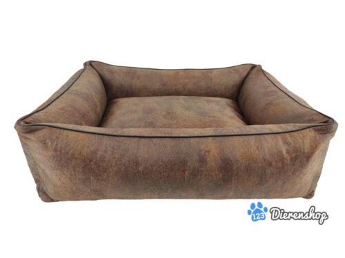 Dog's Lifestyle Hondenmand Vintage Lederlook Bruin