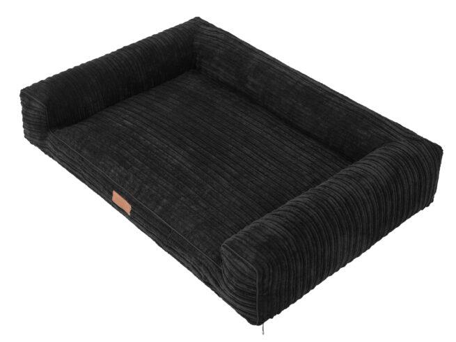 Hondenmand Lounge Bed Rib Zwart 100cm