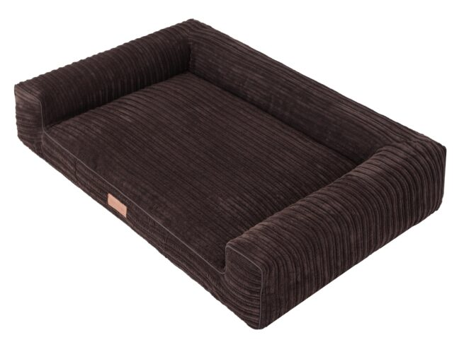 Hondenmand Lounge Bed Rib Bruin 100cm