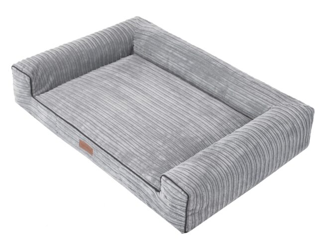 Hondenmand Lounge Bed Rib Grijs 100cm