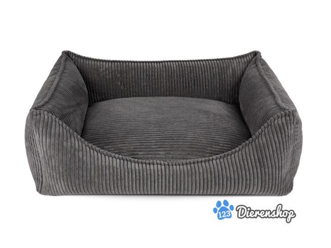 Luxe hondenmanden Hondenmand Ribbed Antraciet ( meubelstof )