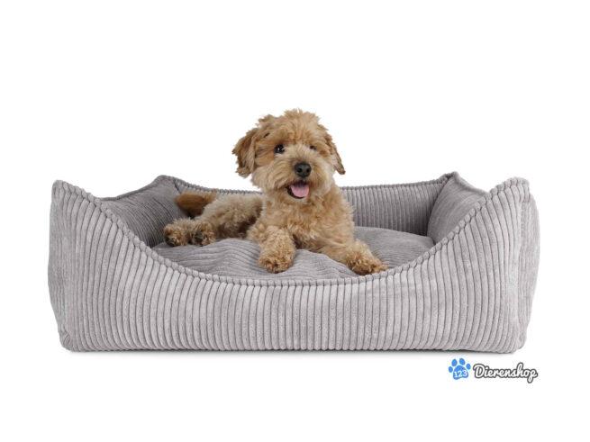 Luxe hondenmanden Hondenmand Ribbed Grijs ( meubelstof )