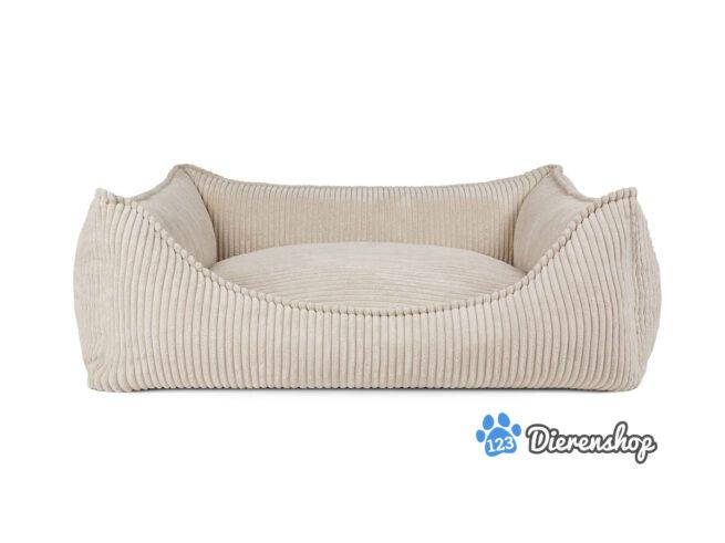 Aanbiedingen Hondenmand Ribbed Crème ( meubelstof )