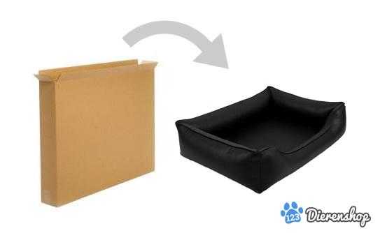 Dog's Lifestyle Dog's Lifestyle Orthopedische hondenmand Eco-Leder Zwart Waterproof 100cm